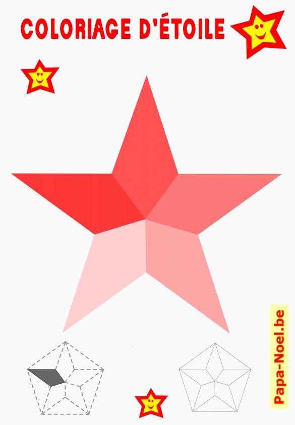 Etoiles de NOEL bricolage idée d'activité décoration de Noël  gratuit à imprimer étoiles à 5 branches
