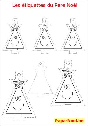 bricolage enfant noel etiquettes a imprimer gratuites pour cadeau sapin pere noel mod le gratuit. Black Bedroom Furniture Sets. Home Design Ideas