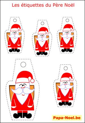 bricolage enfant pere noel etiquettes a imprimer gratuites pour cadeau mod le gratuit cadeaux. Black Bedroom Furniture Sets. Home Design Ideas