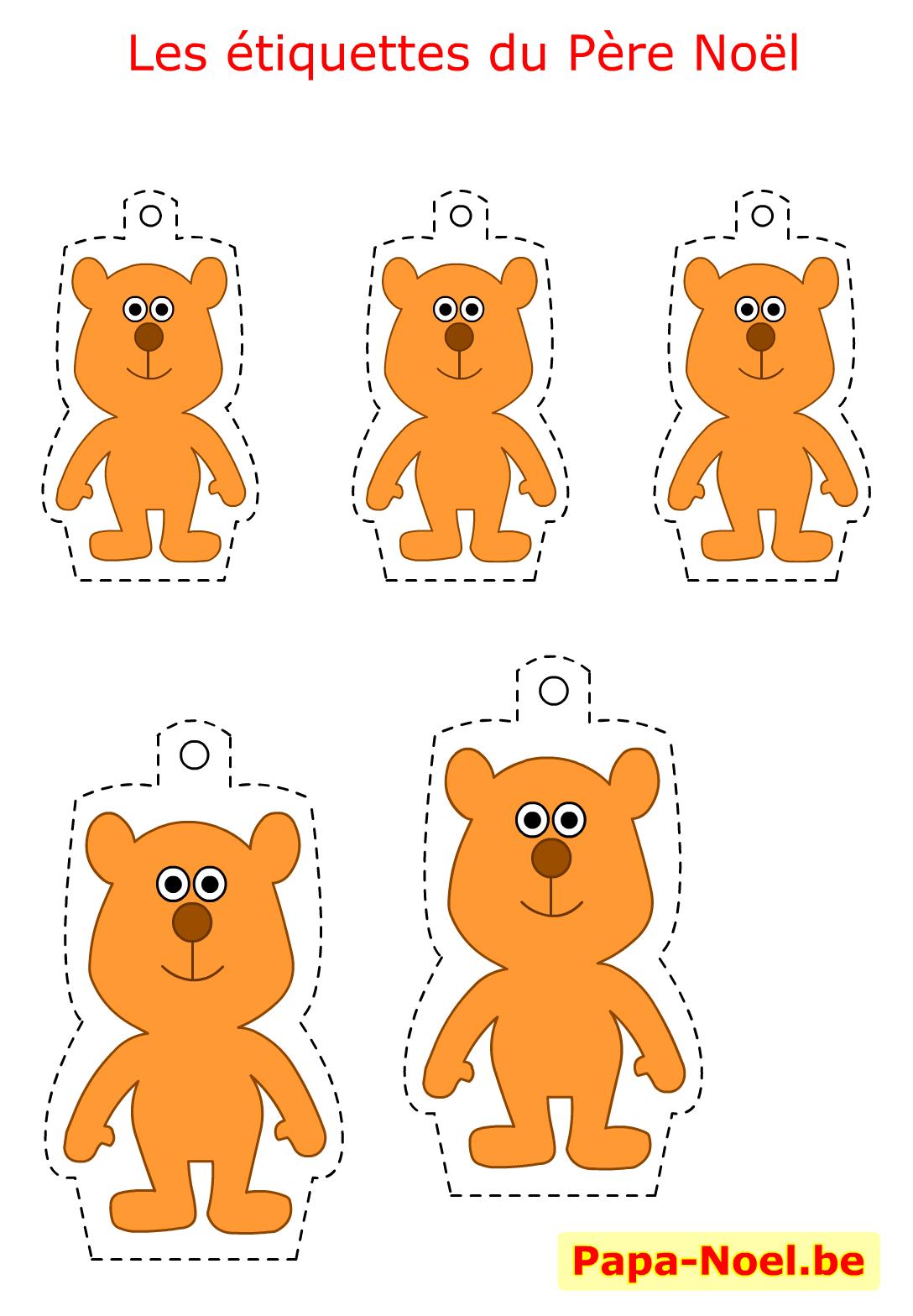 Etiquettes de noel a imprimer gratuites mod le ours pour - Comment emballer les cadeaux ...