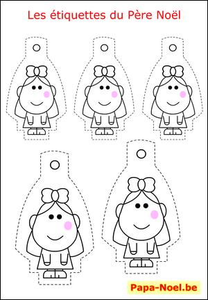 Etiquettes de noel a imprimer gratuitement mod le fille pour cadeaux pere noel cadeau creation - Etiquettes de noel gratuites ...