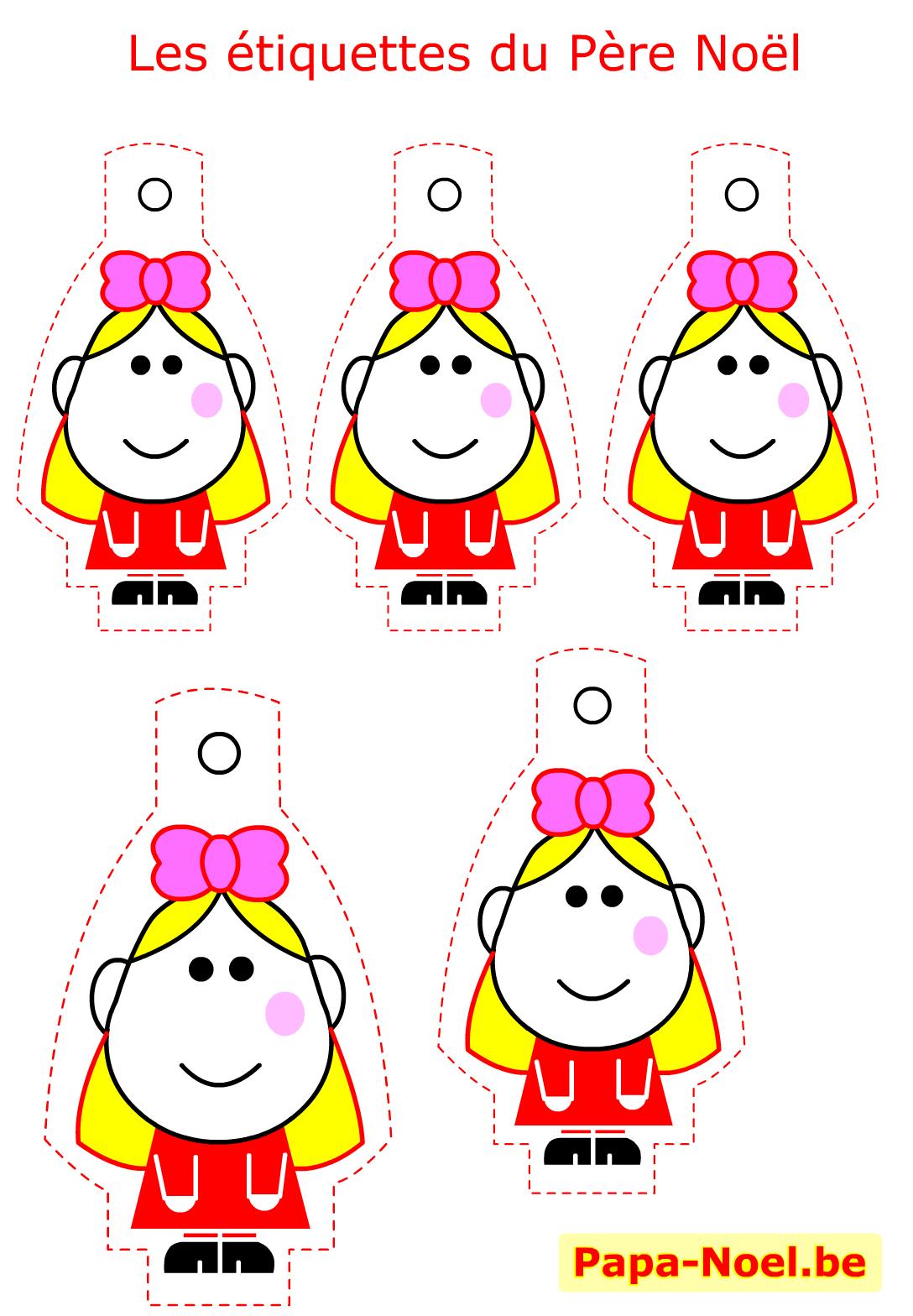 Etiquettes de noel a imprimer gratuites mod le fille pour cadeau pere noel cadeaux creation - Etiquettes de noel gratuites ...