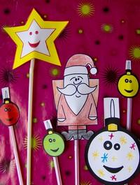 Bricolage pour enfant noel fabrication marionnette no l maternelle fabriquer bricolages marotte - Comment faire une marionnette ...