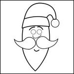 Noel bricolage masque enfant fabrication coloriage masques - Bricolage de noel facile a imprimer ...