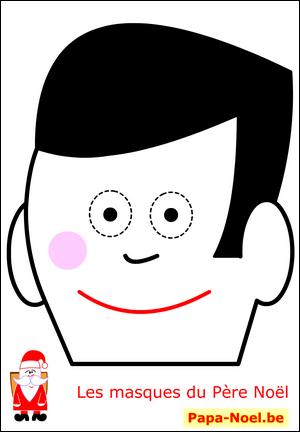 Noel bricolage masque p re no l enfant fabrication coloriage masques monsieur pour d guisement - Fabrication d un pere noel ...