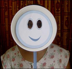 Noel bricolage enfant idee fabrication masque marionnette assiette carton papier fabriquer faire - Comment faire un masque en papier ...