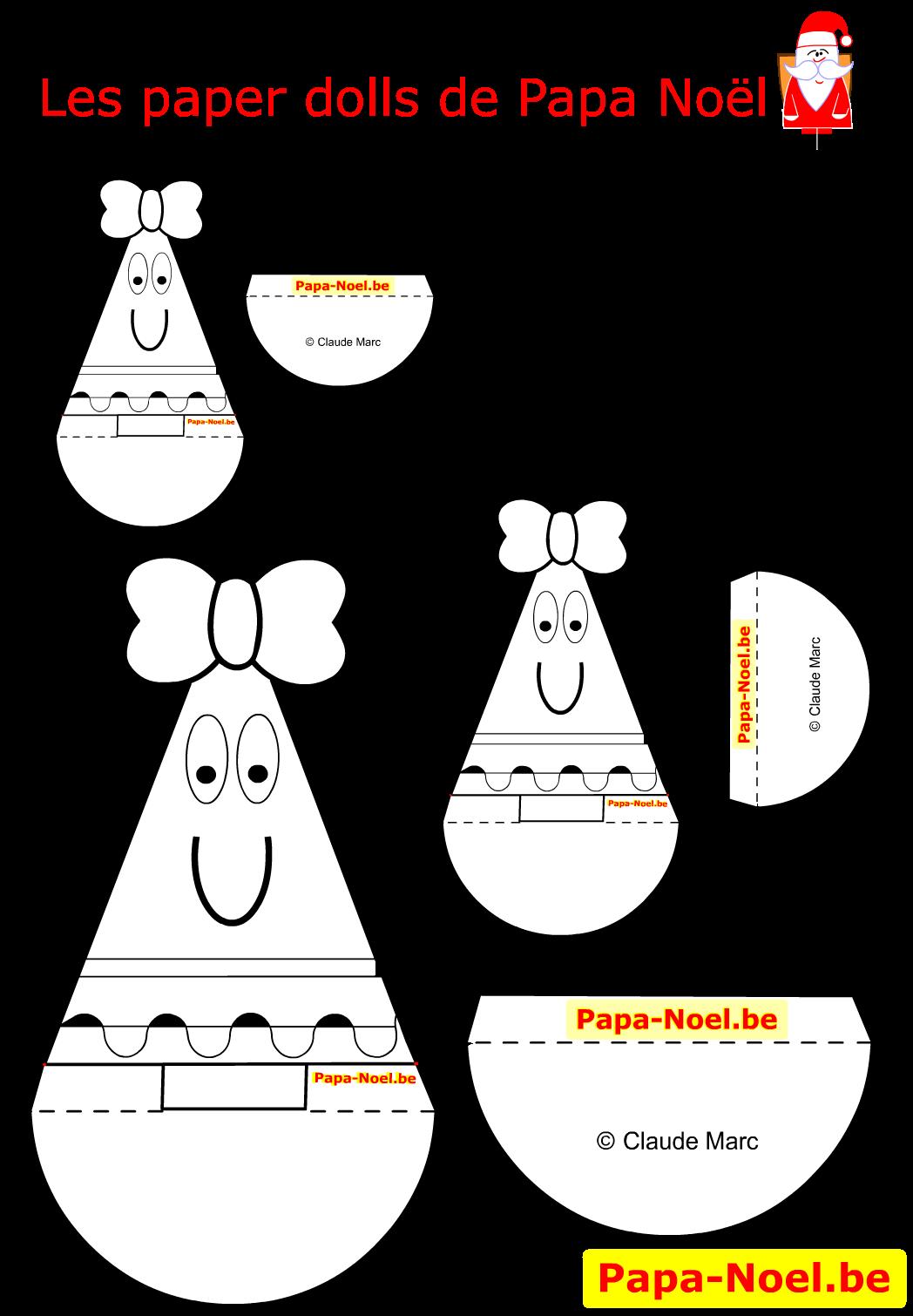 paper doll noel enfant jouet en papier paperdoll a. Black Bedroom Furniture Sets. Home Design Ideas