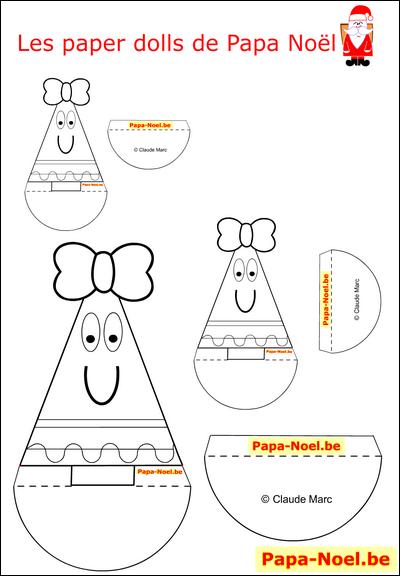 Paper doll noel enfant jouet en papier paperdoll a imprimer gratuit sapin de no l fille - Patron sapin de noel ...
