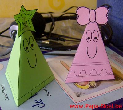Imprimer paper toy noel 1 mod le plusieurs couleurs - Bricolage noel cycle 2 ...