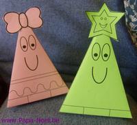 Paper toy NOEL à imprimer gratuit sapin de Noël
