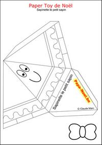 Paper toy noel enfant bricolage jouet en papier imprimer - Bricolage de noel a imprimer ...
