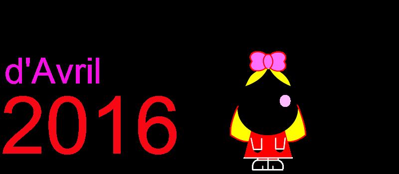 Calendrier avril 2016 à imprimer Dessin de fillette