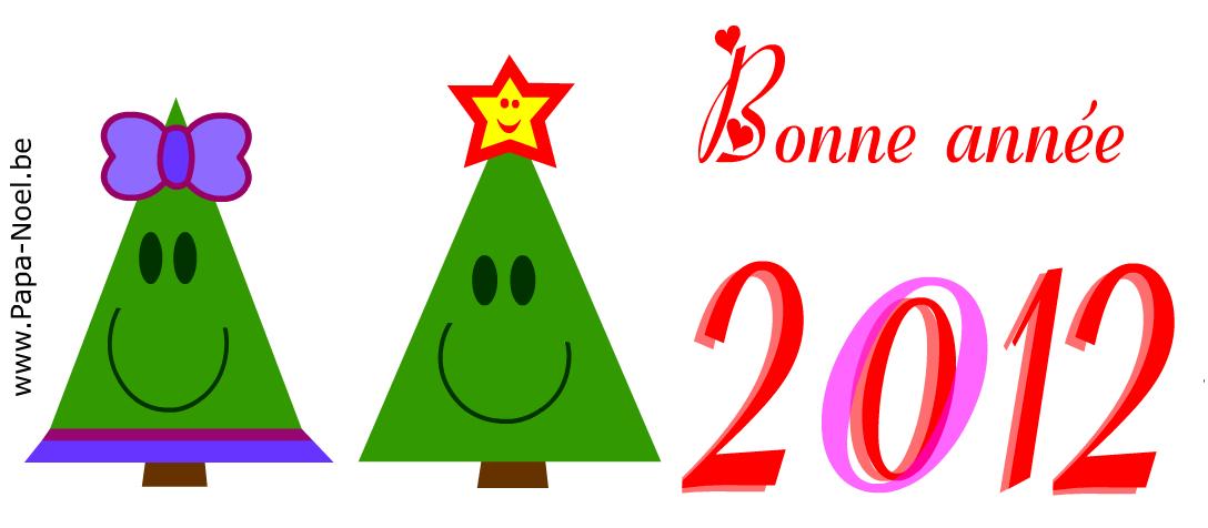 Imprimer une carte BONNE ANNéE 2012 Faire cartes sapin nouvel an ...