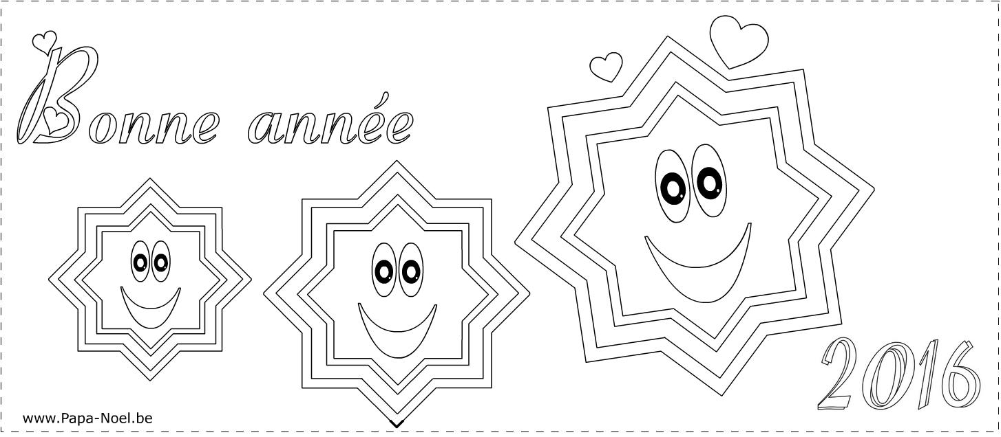Coloriage de carte joyeux noel 2015 bonne ann e 2016 - Carte noel a imprimer ...