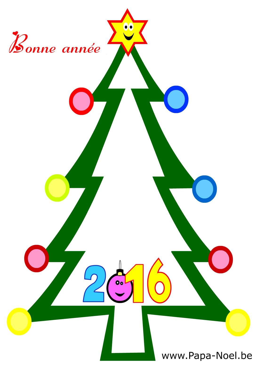 Coloriage de carte bonne ann e 2016 fabriquer faire cartes nouvel an imprimer colorier dessin - Creer une carte de voeux gratuite a imprimer ...