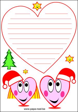 papier a lettre noel imprimer no l gratuit lettres dessin de coeur pour enfants gratuit. Black Bedroom Furniture Sets. Home Design Ideas