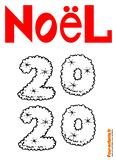 Coloriage Noel 2020 à imprimer