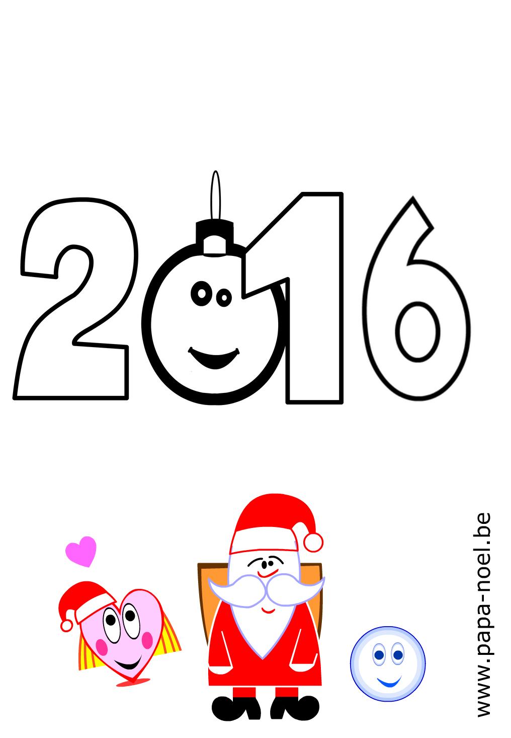 2016 coloriage nouvel an 2016 coloriages imprimer dessin - Bricolage de noel facile a imprimer ...