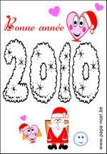 Coloriage Bonne annee 2010 dessin nouvel an 2010