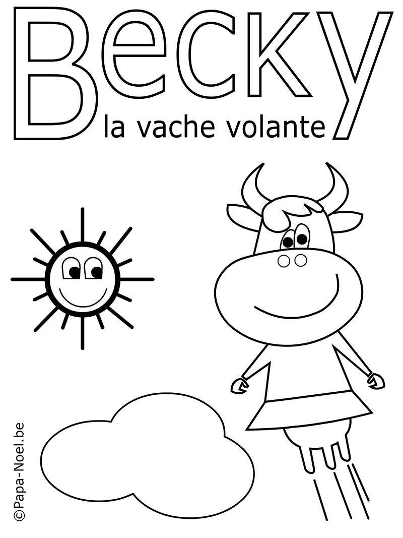 Bricolage enfant coloriage vache - Coloriage bricolage ...