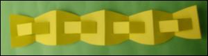 D coration de no l guirlande en papier - Comment fabriquer une guirlande de noel ...