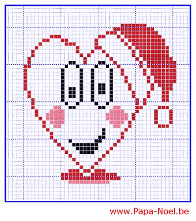 Jeux des différences à imprimer NOEL Avec dessins de coeurs