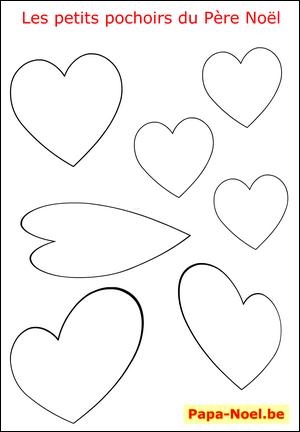 Pochoir De Noel Pochoirs A Imprimer Gratuit Dessin Coeur D Amour