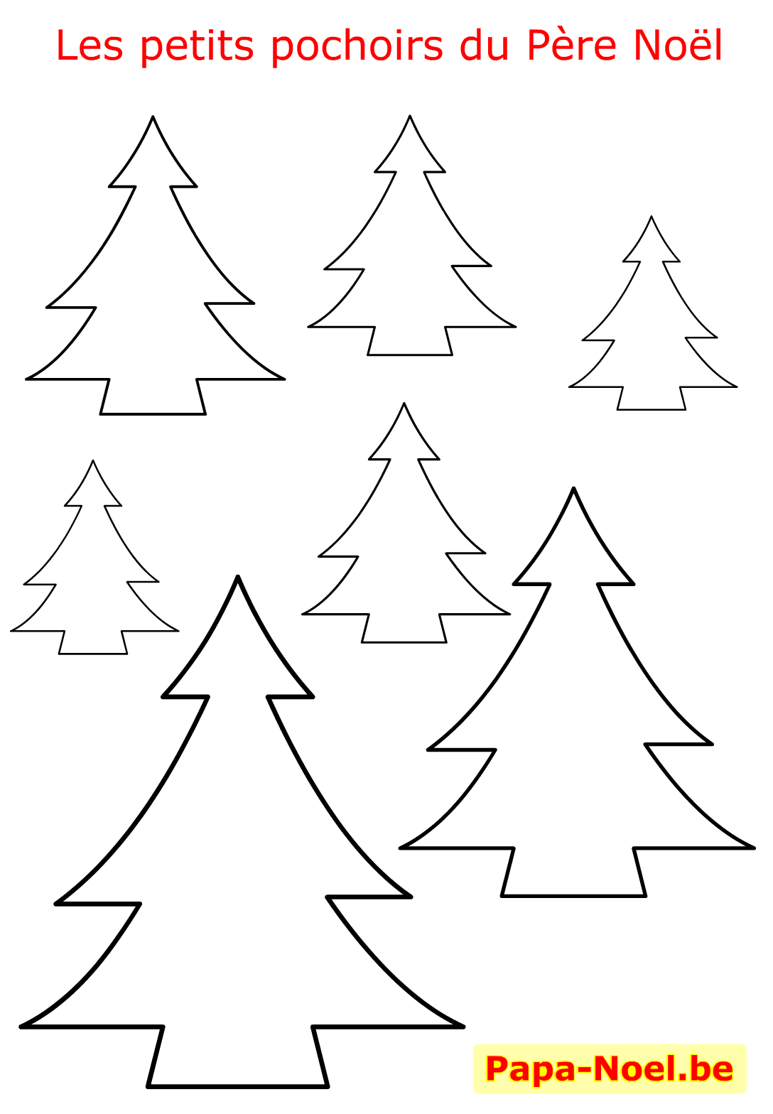 NOEL Pochoir de sapin de NOEL pochoirs à imprimer gratuit sapins Noël maternelle