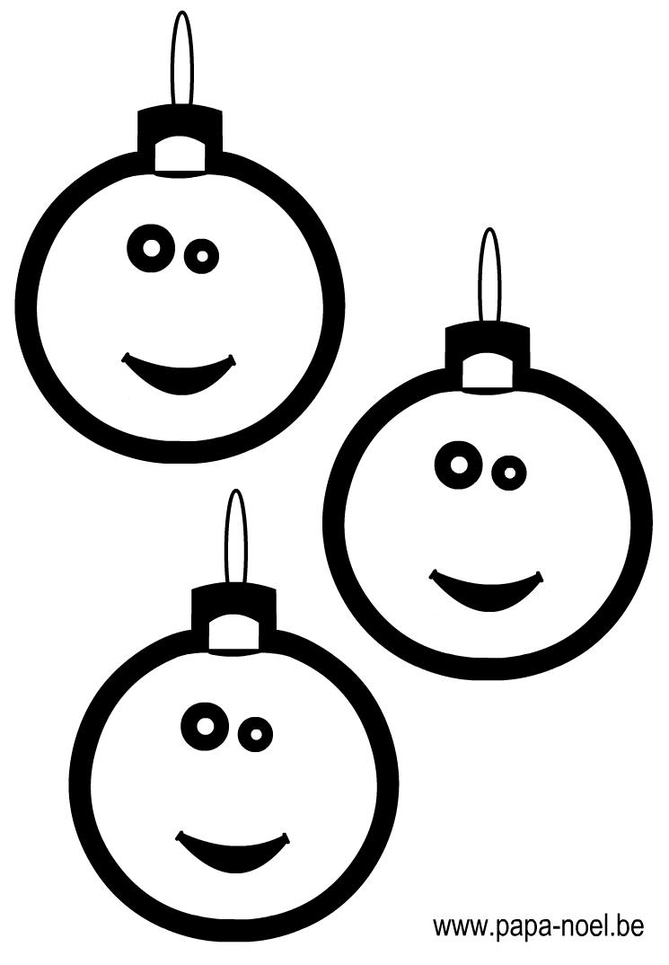 Noel coloriage de boule de noel coloriage de boules de - Noel dessin couleur ...