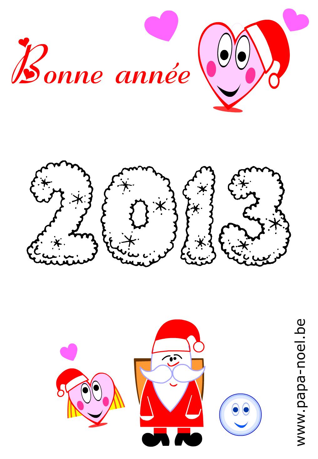2013 Coloriage nouvel an 2013 coloriages à imprimer dessin nouvel