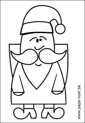 Imprimer Coloriage De Noel Pere Noel Papa Noel Gratuit Coloriages
